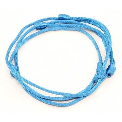 3 bracelets CIEL à cordon chanceux kabbale faits main pour