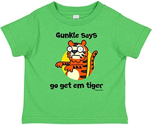 inktastic Gunkle Says Go Get Em Tiger Long Sleeve Creeper Flossy and Jim