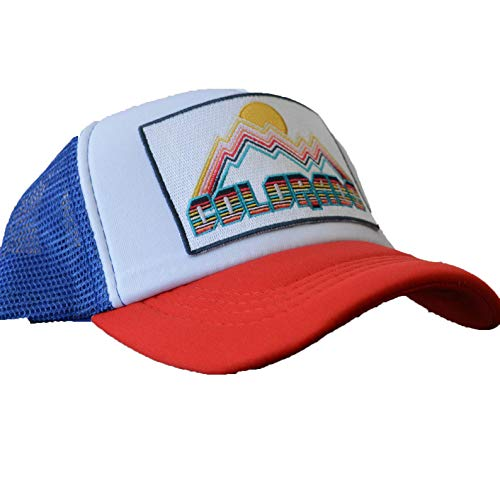 7b4a4cb91 Colorado Kids Hat - Retro Infant Hat/Baby Hat/Toddler Colorado Trucker Hat  (Red/White/Blue)