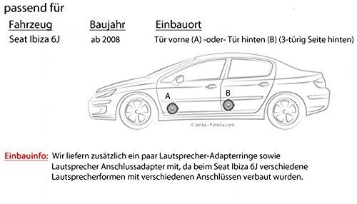 Seat Ibiza 6J - Blaupunkt ic122 - 16 cm coaxial de 2 Vías Altavoces - Empotrable Set: Amazon.es: Electrónica