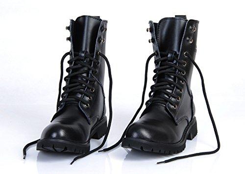 MIAOW本革マーティンブーツメンズ軍靴ワークブーツエンジニアブーツシューズ防水防滑防寒ブラック