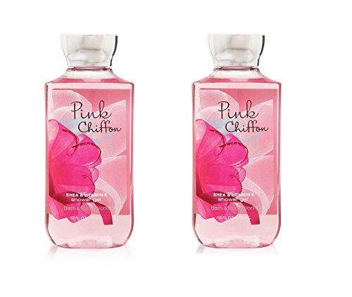 2PK Bath Body Works Pink Chiffon Shower Gel