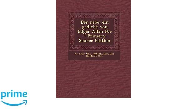 Der Rabe Ein Gedicht Von Edgar Allan Poe Primary Source