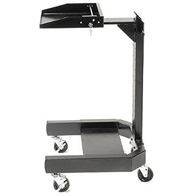 """Mobile Laptop Cart, Black, 24""""W x 24-1/2""""D x 41""""H"""