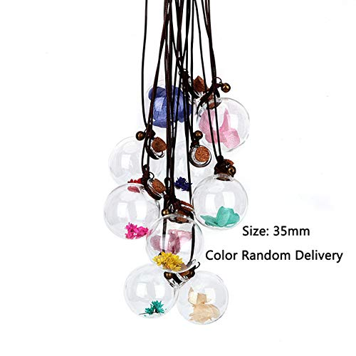 Aki-dreams-house - Empty Glass Bottle Fragrance Car-styling Air Freshener Car Hanging Perfume Pendant Auto Decoration For Essential Oils Diffuser