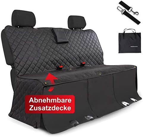 Whizproducts Dog Blanket For Car Rear Seat And Boot With Additional Blanket Waterproof Car Seat Cover With Non Slip Base And Side Protection Pet Supplies
