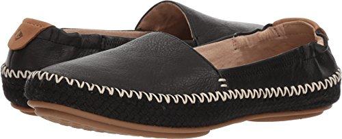 Sperry Top-Sider Women's Sunset Ella Leather Loafer Flat, Black, 9 Medium US (Espadrilles Sider Sperry Top)