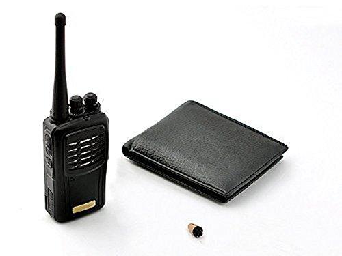 CozyHomelover Portable Walkie-Talkie Micro Earpiece Spy Hidden Bug Transmitter Set Student Cheat Copy School Exams Tests Wallet Receiver Mini Wireless Audio Communication Kit