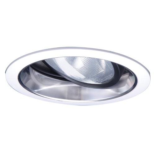 Halo Recessed 478 6-Inch Adjustable Trim with Clear Specular Splay,
