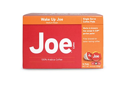 Joe Knows Coffee, Wake Up Joe Single Serve Pods, 12 Count/Box