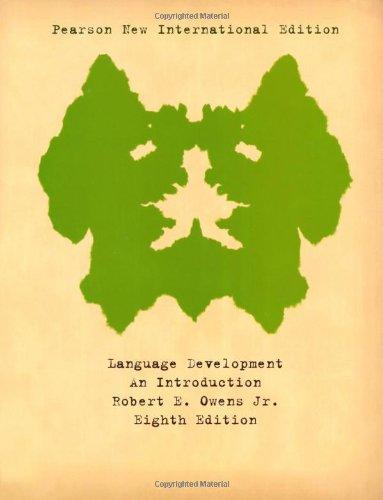 Language Development: Pearson New International Edition: An Introduction