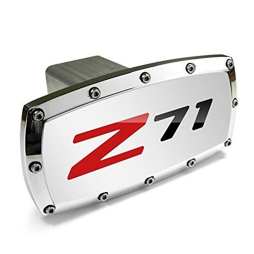 (Chevrolet Z71 Engraved Billet Aluminum Tow Hitch Cover)
