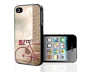 Pretty Pink Vintage Bike Hard Snap on Phone Case (iPhone 4/4s)