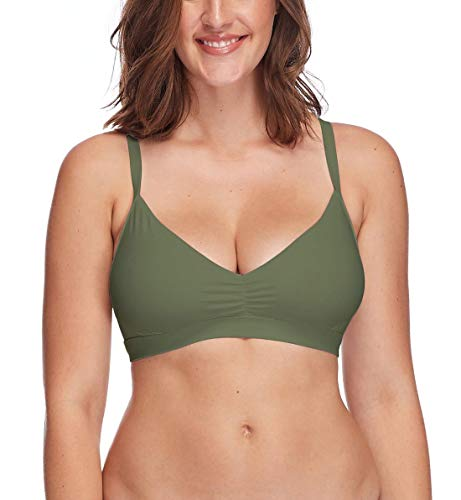 Body Glove Women's Smoothies Drew Solid D, DD, E, F Cup Bikini Top Swimsuit, Cactus ()