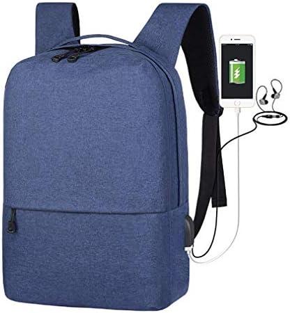 BAJIMI ポートは、14インチのノートパソコンにフィット充電ハイキングバックパック、学生のバックパック、ノートパソコンのバックパック、ビジネストラベルコンピュータバッグ女性と男性、大学のスクールバックパックUSBで、ブルー