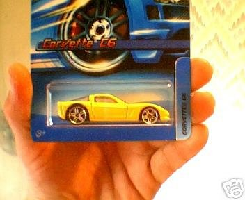 Mattel Hot Wheels 2005 1:64 Scale Yellow Chevy Corvette C6 Die Cast Car #175