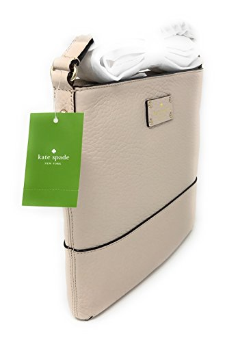 Kate Spade Bay Street Cora Leather Crossbody Bag Purse Shoulder Bag (Pumice)