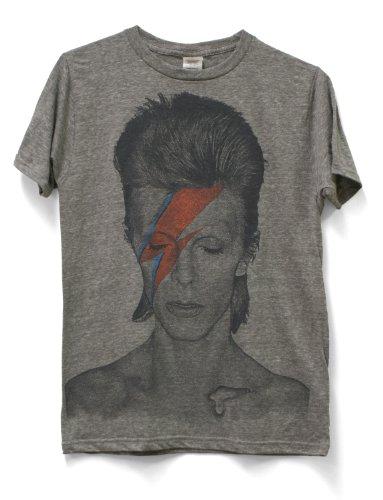 Impact Men's David Bowie Lightning Aladdin Sane T-Shirt, Athletic Grey, Large