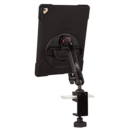 The Joy Factory MagConnect Carbon Fiber C-Clamp Mount with aXtion Bold MP Water-Resistant Rugged Shockproof Case for iPad 9.7 5th/6th Gen, Built-In Screen Protector, Hand Strap, Kickstand (MWA602MP) by The Joy Factory