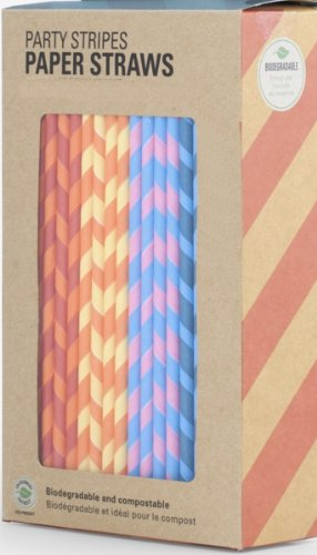 Green Party Goods Candy Cane Striped Paper Straws - Purple and White, 144 Count Box