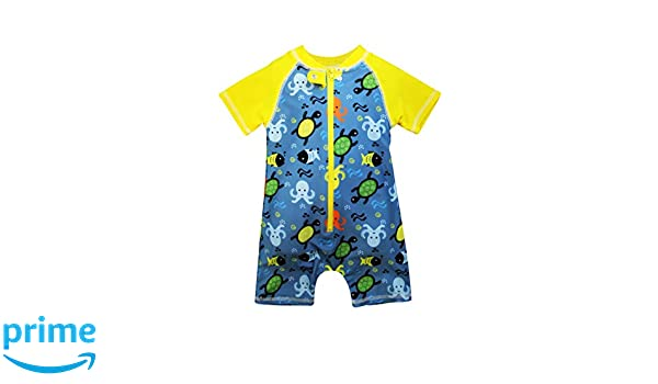 6254b100 Amazon.com: Sol Swim School Recess Rash Guard Bodysuit for Boys | Boys'  Swimwear | Wetsuit for Boys: Clothing