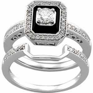 Amazon.com: 14K White Gold Antique-Inspired Emerald Cut