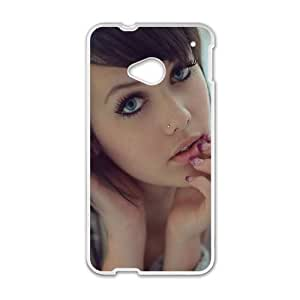 Melissa Clarke HTC One M7 Cell Phone Case White DIY Gift xxy002_5094602