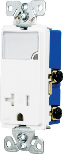 Eaton TR7736W-BOX 3-Wire Receptacle Combo Nightlight with Ta