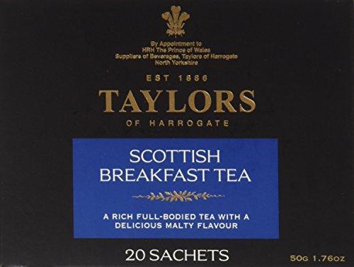 Taylors of Harrogate, Black Tea, Scottish Breakfast Tea, 20-Count Wrapped Tea Bags (Pack of (Harrogate Scottish Breakfast)
