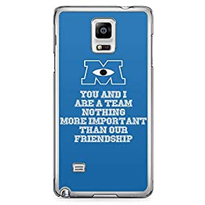 Loud Universe Quote Movie Monsters Inc Samsung Note 4 Case Monsters University Samsung Note 4 Cover with Transparent Edges