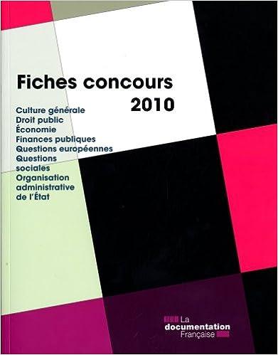 Livre gratuits Fiches Concours 2010 pdf epub