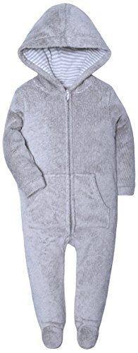 - HONGLIN Baby Pajamas Footed Zip Baby Girls Boys Hoodie Jumpsuit Romper Outfits Coral Fleece Melange Grey