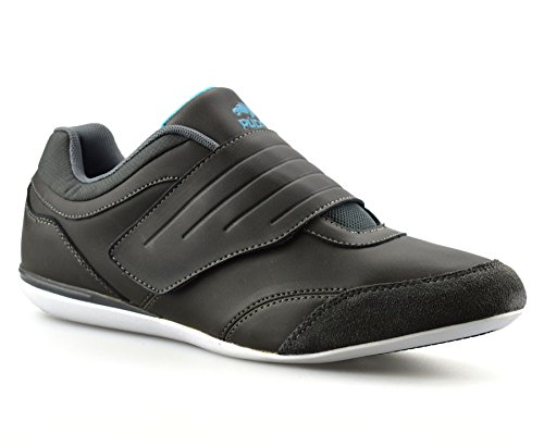 Mens Casual Touch Strap Slip On Walking Running Gym Sports Trainers Shoes Size