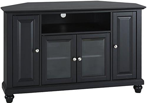Crosley Furniture Cambridge 48-inch Corner TV Stand – Black