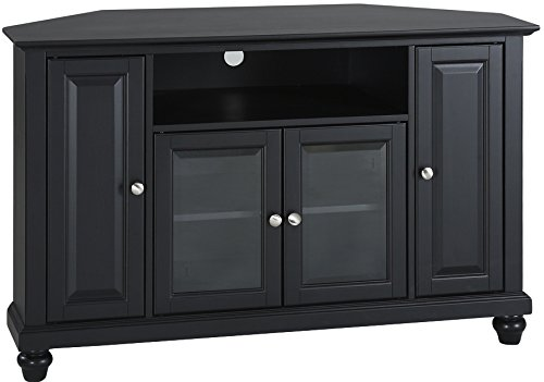 Crosley Furniture Cambridge 48-inch Corner TV Stand - Black (Stand Large Black Tv)