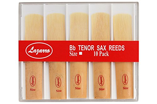 Lazarro T-3-R Tenor Saxophone Sax Reeds Size Strength 3, Box of 10 - All Sizes Available by Lazarro