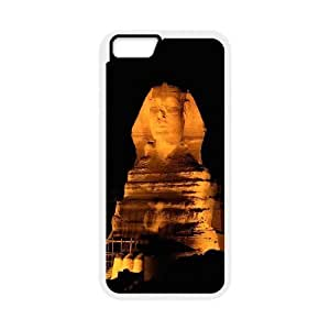 Egypt Pyramids Series, IPhone 6 Plus Cases, Egypt Giza Pyramids the Sphinx at Night Cases for IPhone 6 Plus [White]