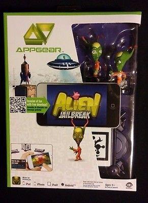 Alien Jailbreak Boxed App Game with Alien Figures