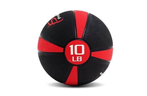 ProSource Weighted Medicine Ball, 10 lb. (Rubber Medicine Ball Set)