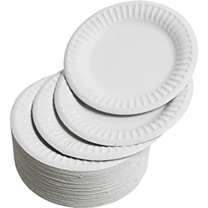 Paper Plates 15cm - Pack of 100 | 6inch Paper Plates Disposable Plates Party Plates  sc 1 st  Amazon.com & Amazon.com: Paper Plates 15cm - Pack of 100 | 6inch Paper Plates ...