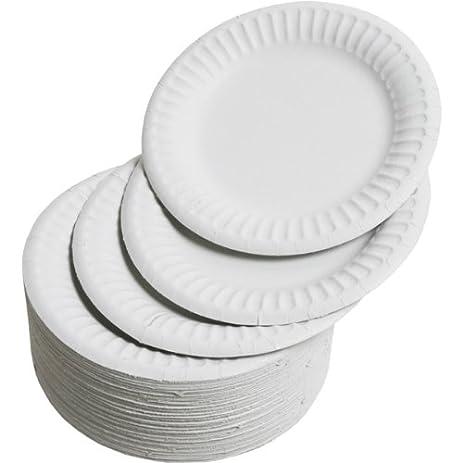 Paper Plates 15cm - Pack of 100 | 6inch Paper Plates Disposable Plates Party  sc 1 st  Amazon.com & Amazon.com: Paper Plates 15cm - Pack of 100 | 6inch Paper Plates ...
