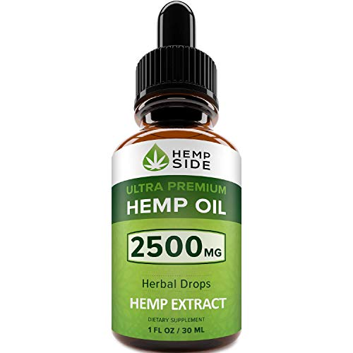 (Hemp Oil Drops for Pain, Anxiety & Stress Relief - 2500mg of Pure Hemp Extract - Ultimate Hemp Power - Grown & Made in USA – New Formula - Anti-Inflammatory & Joint Support)