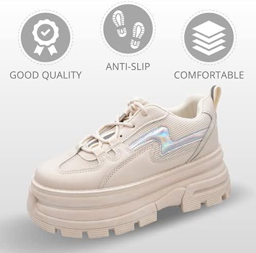Neu Damen Plateau Sneaker Chunky Turnschuhe Freizeitschuhe 1992 Schuhe Gr 36-41