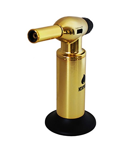Creme Brulee Culinary Kitchen Torch - Cooking Torch & Multifunction Butane Torch Lighter - Intense Adjustable Jet Flame (Up to 2400 F) - Includes Safety Lock, Piezo Ignition, and Quick Refill System - 10'' Gold by Newport (Image #5)