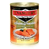 Evanger's Evanger's Wild Salmon Dog/Cat Canned Food Evanger's Wild Salmon Dog/Cat 12/12Oz Canned Food, My Pet Supplies