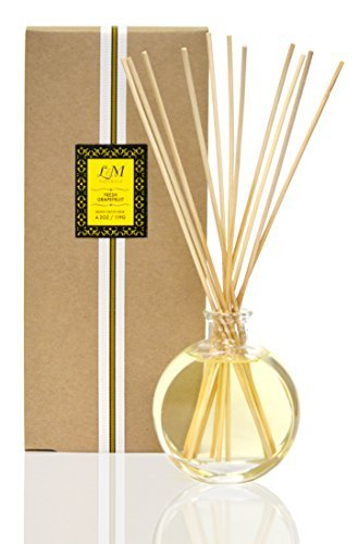 L&M Fresh Grapefruit Home Ambiance Reed Diffuser Set- Made with Natural Essential Oils - Our Wonderful Fragrance Will Enhance Any Space~ Made in ()