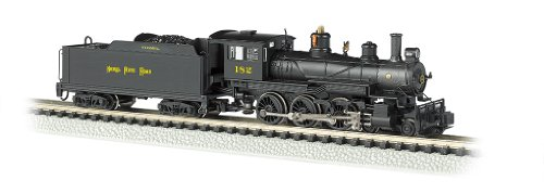 Bachmann Industries #182 Baldwin 4-6-0 Steam Locomotive and Tender DCC Equipped Nickel Plate Train Car, N Scale ()