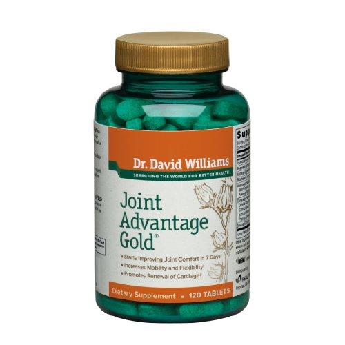 Joint Supplément Or Avantage Par le Dr Williams, soulager les douleurs articulaires naturellement avec sulfate de glucosamine, Boswellia, 120 comprimés (30 jours d'approvisionnement)