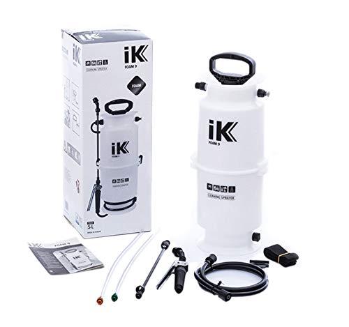 (iK Foam 9 Large Pump Sprayer | 1.3 Gallon | Professional Auto Detailing; Dry/Wet Foam Spray)