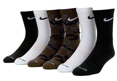 Nike Apparel - Nike Men's Dri-Fit Cushioned Crew Socks Multi SX5707-902 L 8-12